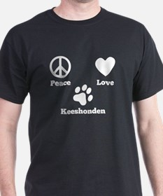 Peace Love Keeshonden T-Shirt