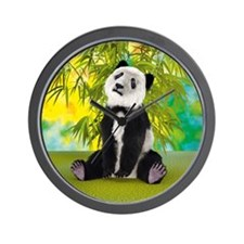 Panda Bear Cub Wall Clock
