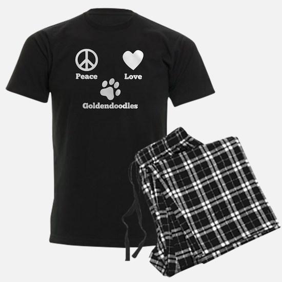 Peace Love Goldendoodles Pajamas
