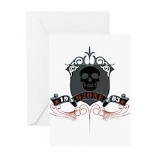 Ozone Skull 05 Greeting Card