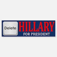Delete Hillary Bumper Bumper Bumper Sticker