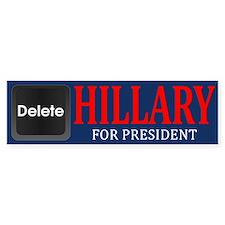 Delete Hillary Bumper Bumper Sticker