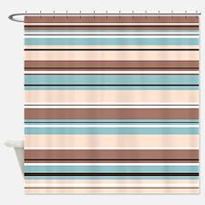 Striped Design BBCW Shower Curtain