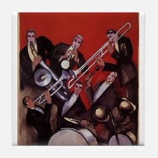 Vintage Music, Art Deco Jazz Tile Coaster