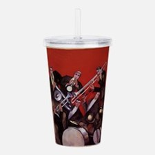 Vintage Music, Art Dec Acrylic Double-wall Tumbler