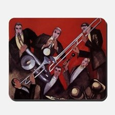 Vintage Music, Art Deco Jazz Mousepad