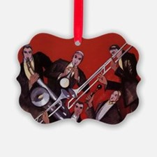 Vintage Music, Art Deco Jazz Ornament