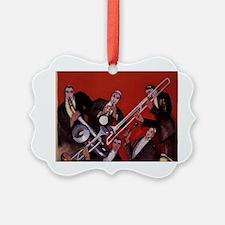 Vintage Music, Art Deco Jazz Picture Ornament