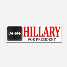 Delete Hillary Car Magnet 10 X 3