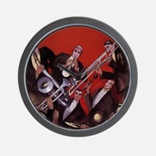 Vintage Music, Art Deco Jazz Wall Clock