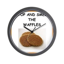 a funny food joke Wall Clock