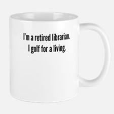 Retired Librarian Golfer Mugs