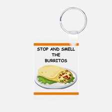 a funny food joke Keychains