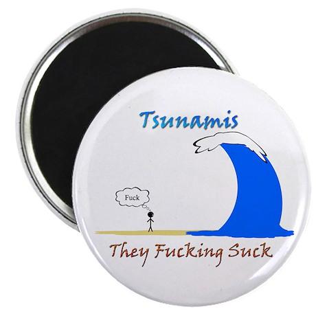 "Tsunamis Suck 2.25"" Magnet (100 pack)"