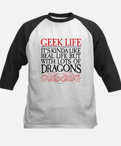 Geek Life With Dragons Baseball Jersey