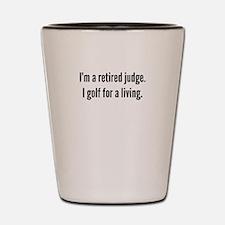Retired Judge Golfer Shot Glass