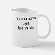 Retired Insurance Agent Golfer Mugs
