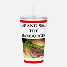 hamburger Acrylic Double-wall Tumbler