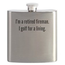 Retired Fireman Golfer Flask