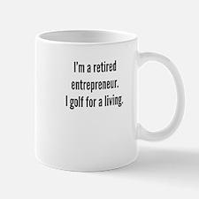 Retired Entrepreneur Golfer Mugs