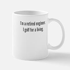 Retired Engineer Golfer Mugs