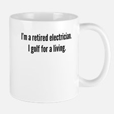 Retired Electrician Golfer Mugs