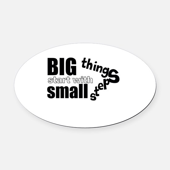 Motivating Text Quote Oval Car Magnet