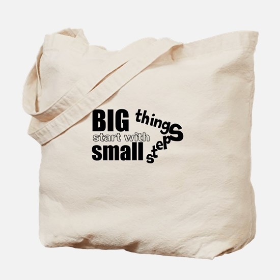 Motivating Text Quote Tote Bag