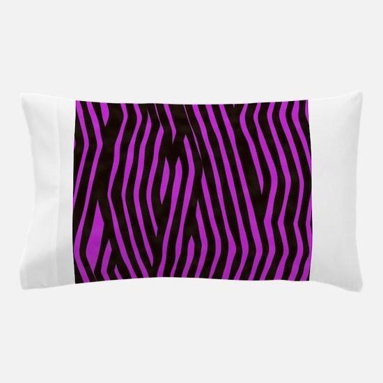 Purple Zebra print (bright and bold) Pillow Case