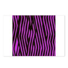 Purple Zebra print (brigh Postcards (Package of 8)