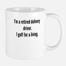 Retired Delivery Driver Golfer Mugs