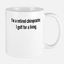 Retired Chiropractor Golfer Mugs