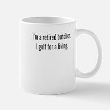 Retired Butcher Golfer Mugs