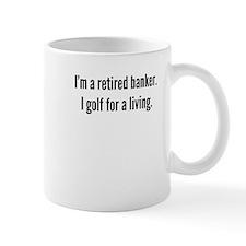 Retired Banker Golfer Mugs