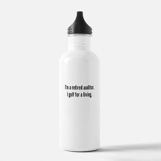 Retired Auditor Golfer Water Bottle
