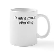 Retired Accountant Golfer Mugs