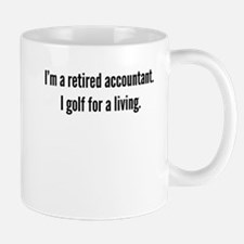 Retired Accountant Golfer Mugs