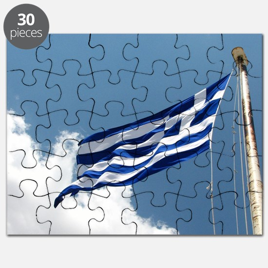 Greek Flag In The Breeze... Puzzle