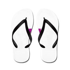 Hot Pink Animal Lover Print Flip Flops
