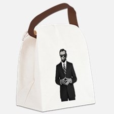 Lincoln Serious Business Canvas Lunch Bag