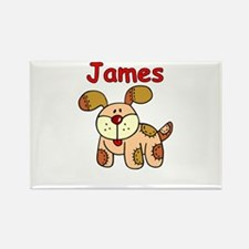 James Puppy Rectangle Magnet