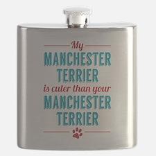 Manchester Terrier Flask