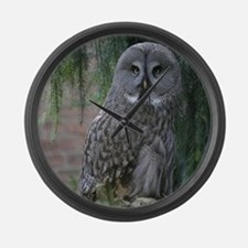 Owl_2015_0203 Large Wall Clock