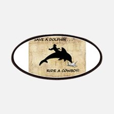 dolphin cowboy Patch