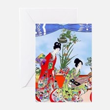 Geisha, Musicians, Kimonos ! Greeting Cards