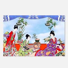 Geisha, Musicians, Kimono Postcards (Package of 8)