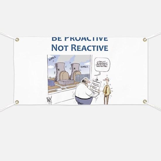 Be Proactive Not Reactive Banner