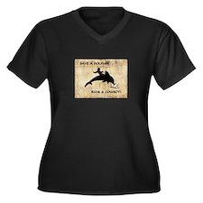 dolphin cowboy Plus Size T-Shirt