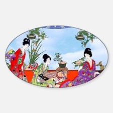 Geisha, Musicians, Kimonos ! Decal