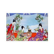 Geisha, Musicians, Kimonos ! Magnets